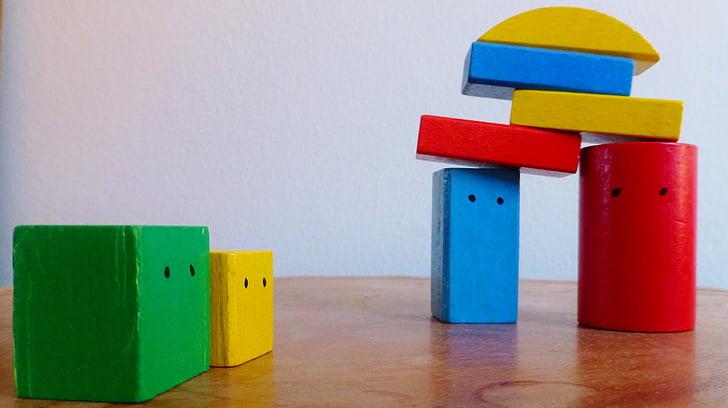 blocs de construcció, colors, construir, joguines per a nens, jugar, agents de teràpia per a l'assessorament, teràpia familiar