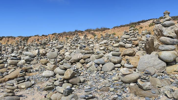 plage, pierres, Milfontes, Balance