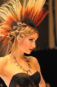 frizūra, modelis, manekens, Rādīt, režīms, mati, sievietes
