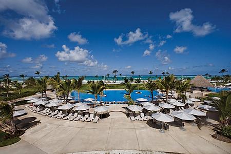 Punta, Cana, teško, stijena, Hotel, more, godišnji odmor