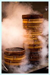 China, stoom, koken, rook - fysieke structuur, ouderwetse, hout - materiaal, geen mensen