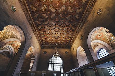 arcs, arquitectura, edifici, sostre, disseny d'interiors, Perspectiva, arc