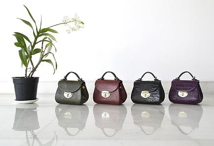 皮革, 袋, 手提包, 女孩, 时尚女人, 时尚
