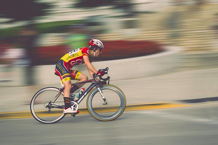 atleta, bicicletes, ciclista, bicicleta, Ciclisme, entelar, competència