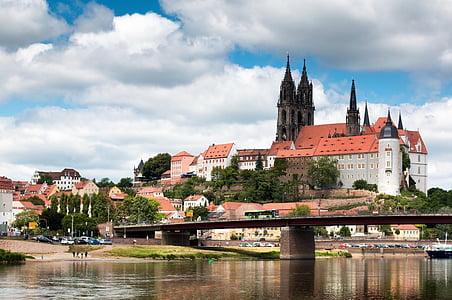germany, meissen, albrechtsburg castle, saxony, east germany, castle, architecture