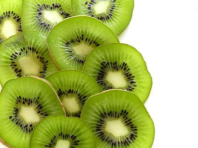 buah kiwi, irisan, segar, juicy, hijau, Manis, tropis