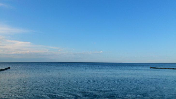 海洋, 地平線, 美しい景色