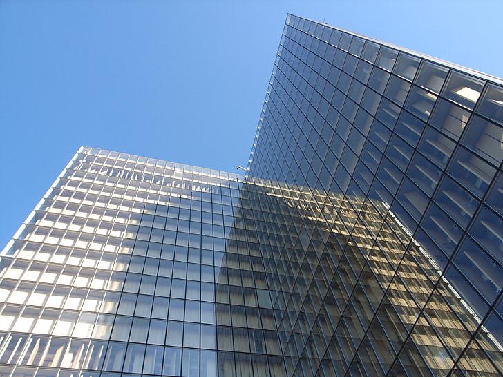 бил, отражение, Париж, сграда, модерна архитектура