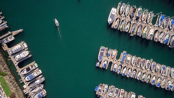 sea, ocean, water, nature, boat, yacht, sailing