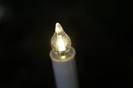 Espelma, artificial, elèctricament, Espelma Estàndard, Espelma d'arbre de Nadal, llum, Nadal
