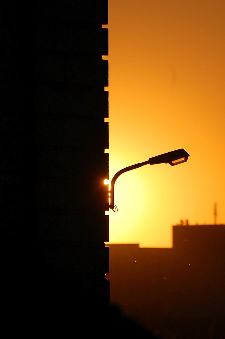 Sunset, abendstimmung, kontrasti, valo
