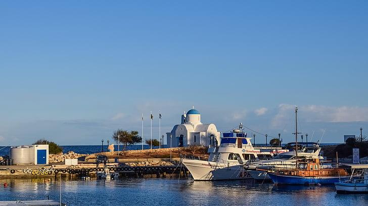 Ciper, Protaras, pristanišča, otok, ribolov zavetje, sredozemski, kulise