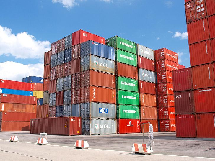 集装箱, 货物, 货运港, 货物集装箱, 集装箱船, 货物, 终端
