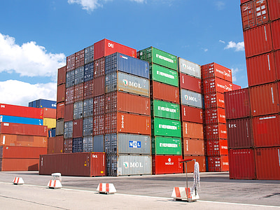 container, cargo, freight harbor, cargo container, container ship, goods, terminal