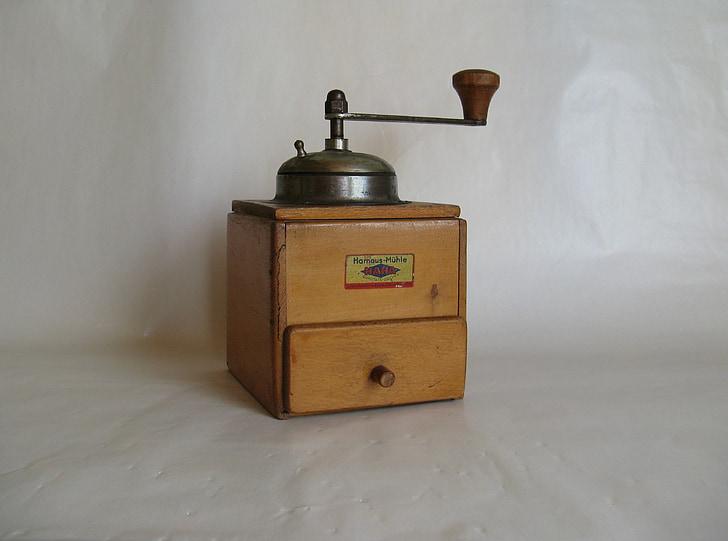Grinder, koffie, oude, Krukas, molen, historisch, grind