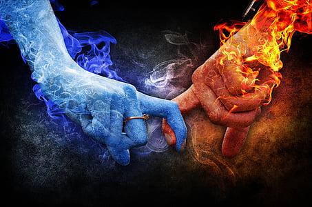 ljubav, odnos, LED, vatra, osjećaje, romansa, romantična