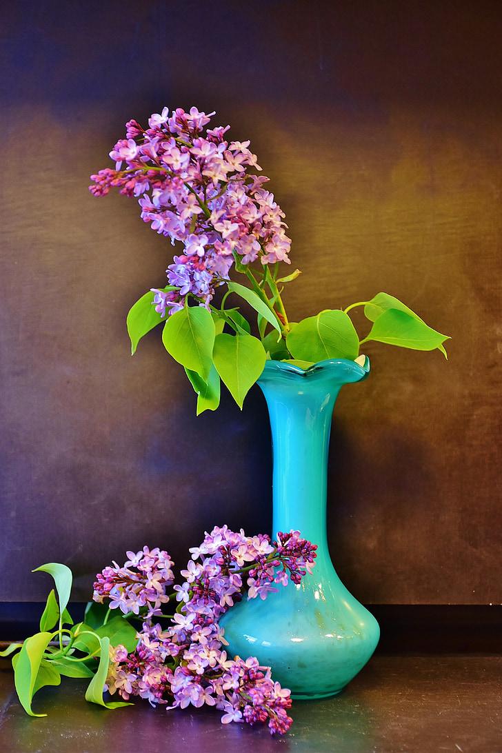 liliowy, liliowy bukiet, kwiaty, wiosna, dekoracyjne, Martwa natura, klomb