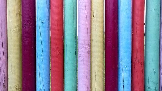 puit, Värviline, Värvid, pulgad, Õues, looduslik, tara