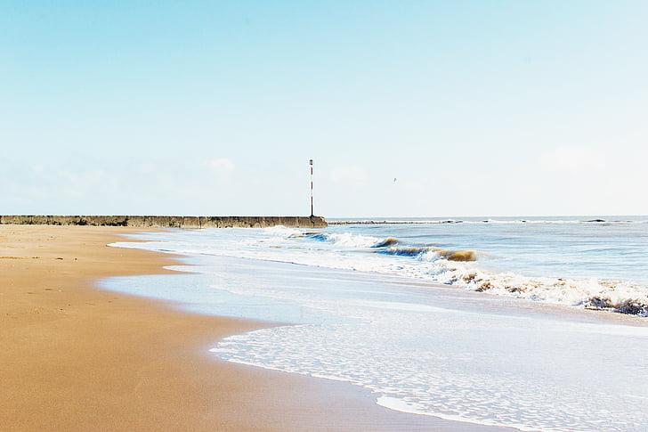 пляж, Зніміть небо, океан, пісок, море, берег моря, Приморський
