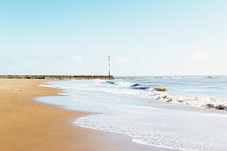 Bãi biển, rõ ràng trên bầu trời, Đại dương, Cát, tôi à?, bờ biển, bên bờ biển