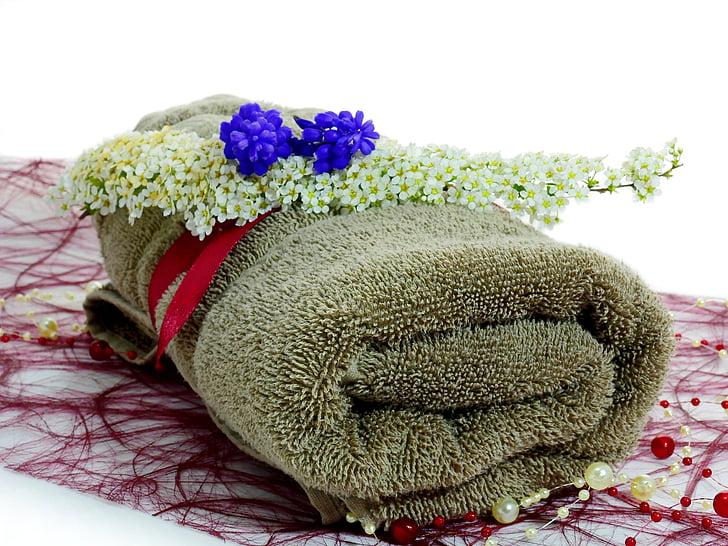 Blume, Deko, Dekoration, Anlage, Handtuch, Wellness, Massage