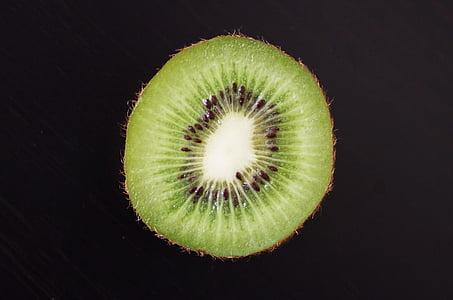 Kiwi, buah, hijau, sehat, memotong