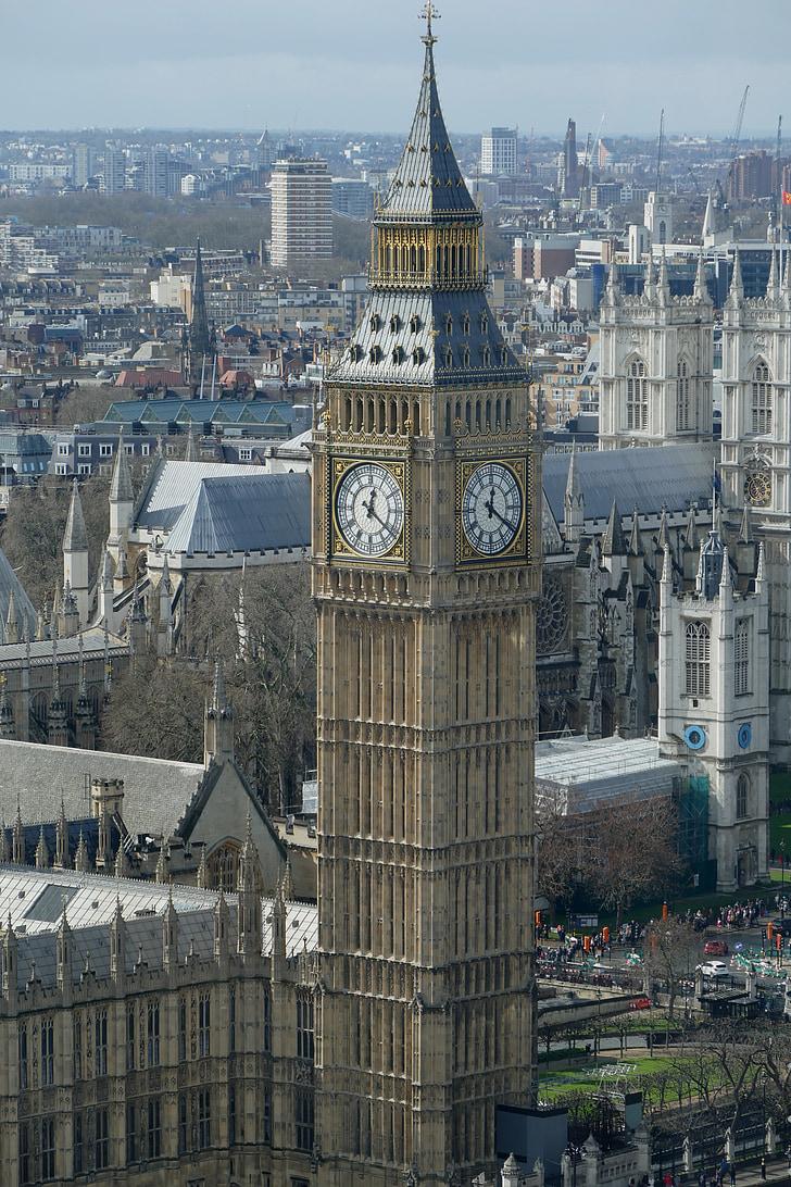 Big ben, Elizabeth-tower, Westminsterin palatsi, Lontoo, Maamerkki, Tower, Kellotorni