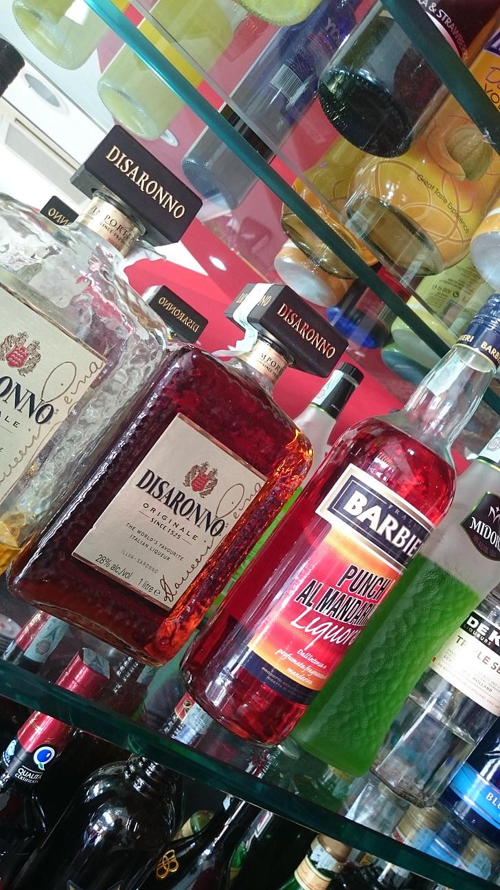 Baar, pudelid, alkoholi, Itaalia, jook, friz Baar