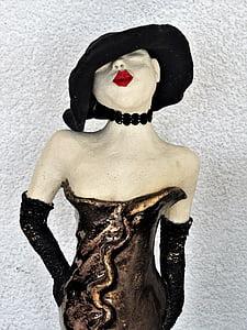 sculpture, art, lady, modern art, artwork, stone figure, women