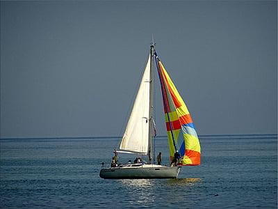 båt, Ocean, segelbåt, havet, vatten, vattenskotrar, Yacht