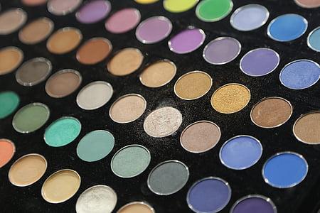cosmètica, ombra d'ulls, maquillatge, bellesa, paleta, maquillatge, producte de bellesa