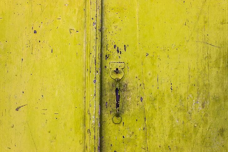 dörr, handtag, traditionella, Grekland, Lås, ingång, hem