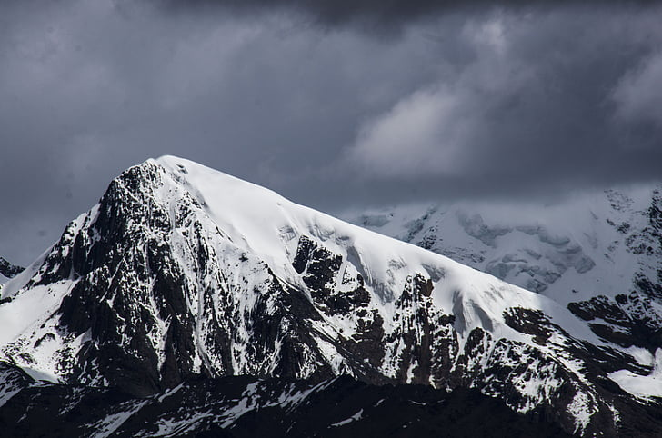 Snow mountain, Cloud, bjergbestiger, til fods