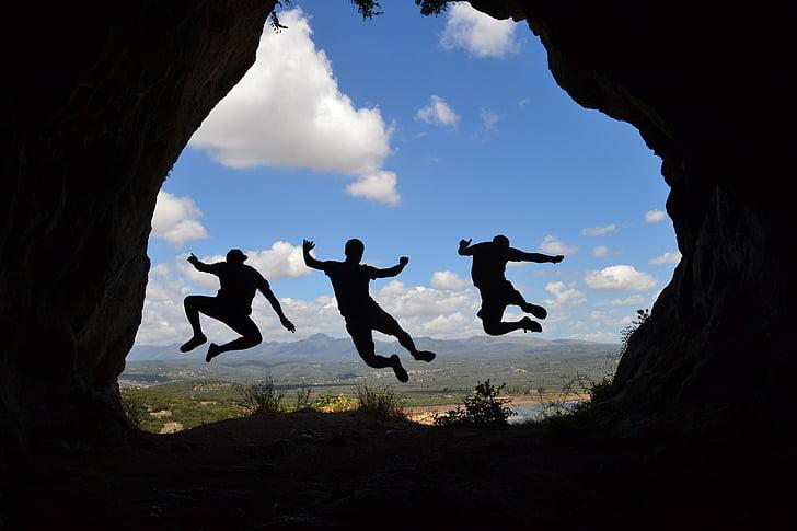 šešėlis, šuolis, Draugystė, jėga, Rodyti, Graikija, lauke