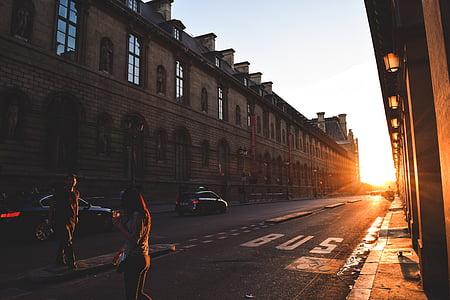 Francie, Paříž, cestování, Západ slunce, Sunshine, Evropa, krajina
