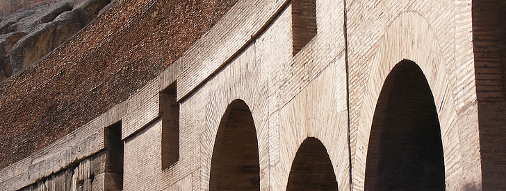 rome, italy, building, old, kolossszeum, old buildings, stones