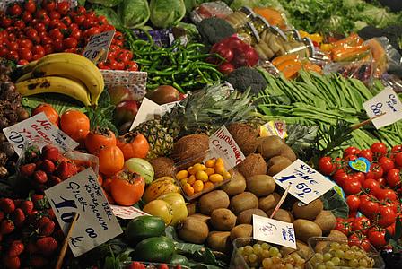 伊斯坦堡, 市场, 蔬菜, 水果, 土耳其, 食品, 蔬菜