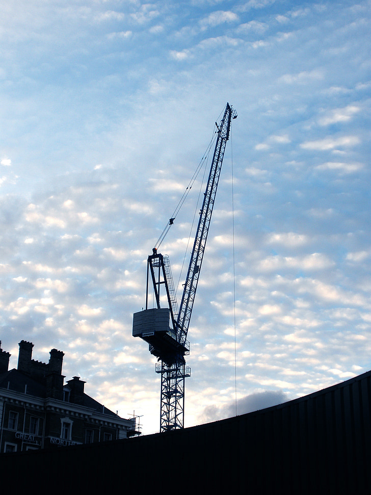 crane, city, construction, urban, industrial, building, high
