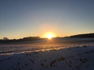 dawn, sunrise, morgenrot, sun, sky, skies