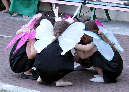 children, feast, butterflies, kids, play, party, fun