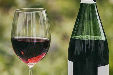 vino, retrò, bicchiere di vino, vetro, alcol, liquido, godere