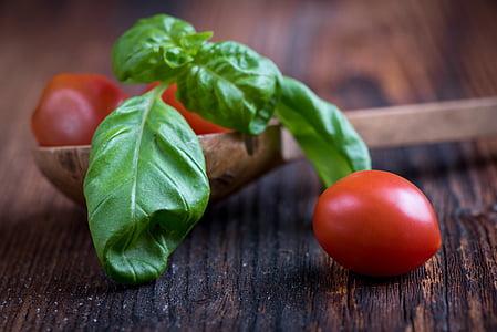 basilic, vert, feuille de basilic, épice, fines herbes, alimentaire, manger