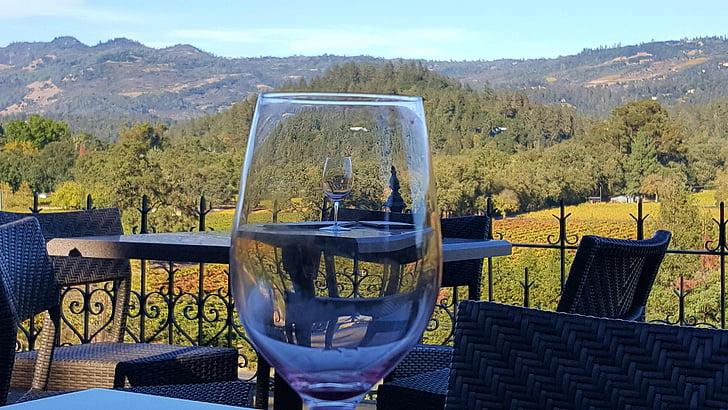 вино, дегустация, Напа, вино стъкло