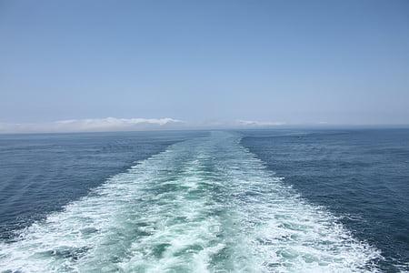 resor, Ocean, kryssning, havet, fartyg, vågor