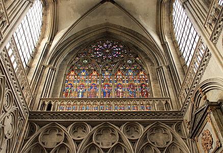 Catedral, Vitrall, religió, l'església, vitralls, finestra, vidrieres