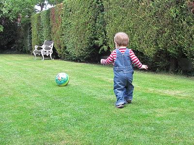 хлапе, спорт, футбол, дете, забавно, Щастлив, младите