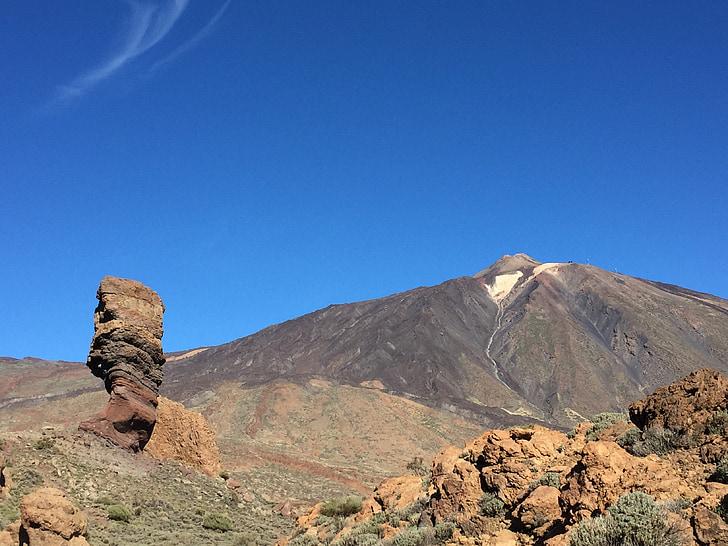 Teide, Tenerife, Espanha, Ilhas Canárias, Parque Nacional de Teide, montanha, vulcão