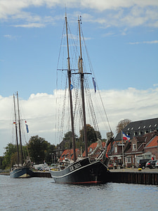 port, sailing vessel, kiel, baltic sea, sea, shipping, yacht