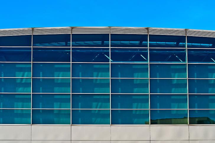 arquitectura, edifici, façana, moderna, gratacels, finestra, façana de la casa