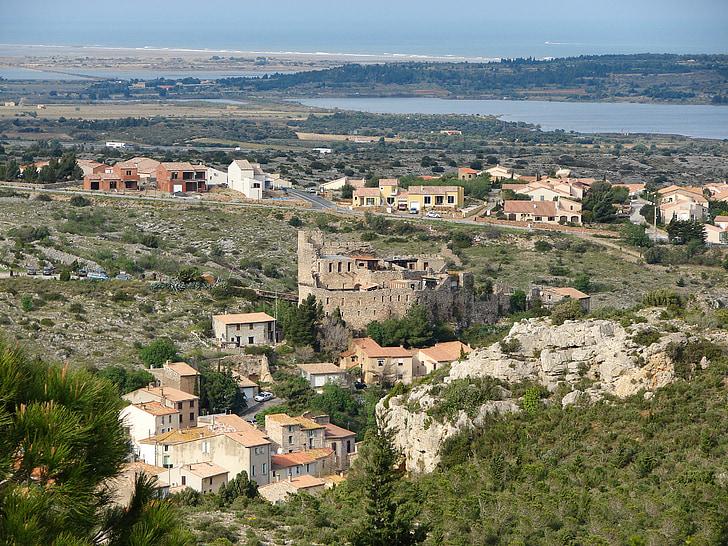 village, france, corbières, medieval villages, tiled roofs
